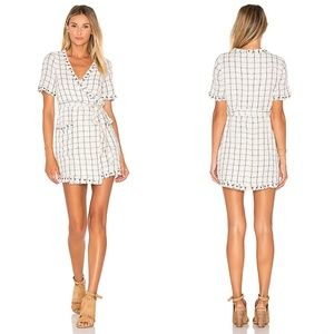 Tularosa Rocky Plaid Wrap Mini Fray Dress size L